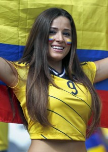 magnifique supportrice colombienne