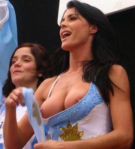 supportrice argentine chaude