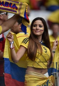 jolie supportrice colombienne