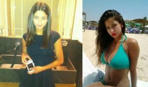 fille normale à gauche et véritable bombe en bikini à droite