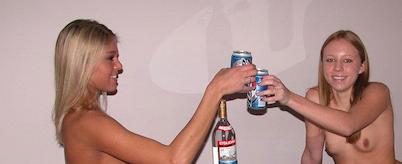 alcool et jolies femmes