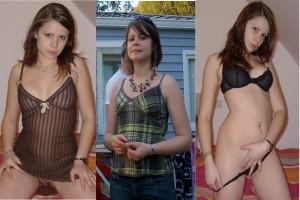 habillée et en sous-vêtements