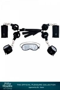 coffret BDSM kit d'attaches pour lit - cinquante nuances de Grey