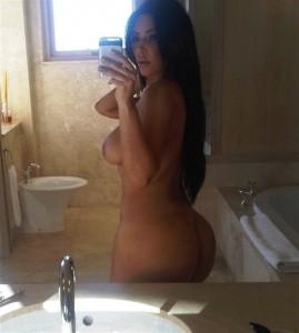 Kim Kardashian et le selfie de son gros cul