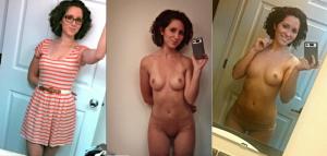 belle femme en robe puis nue